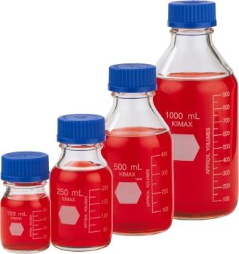 Kimble 蓝盖瓶,GL45蓝盖试剂瓶,Kimax 蓝盖玻璃培育基瓶,货号14395系列
